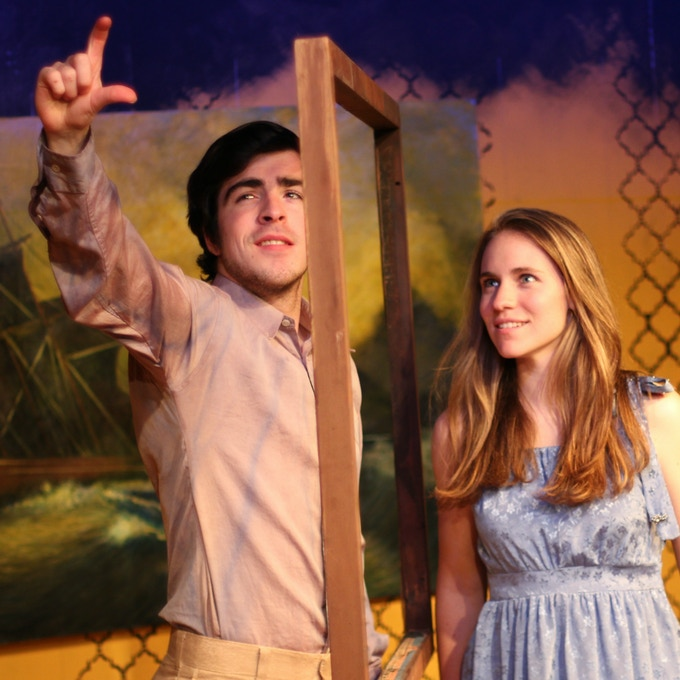 Brendan Connely and McKenna Liesman as Romeo and Juliet