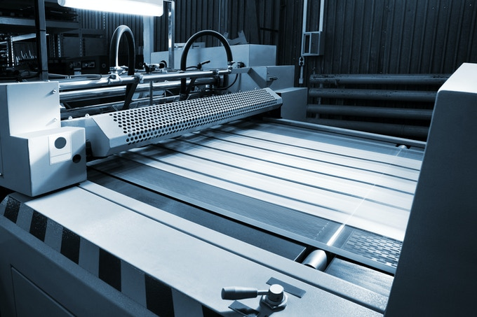 The printer used to make the Lithography on aluminum panel.