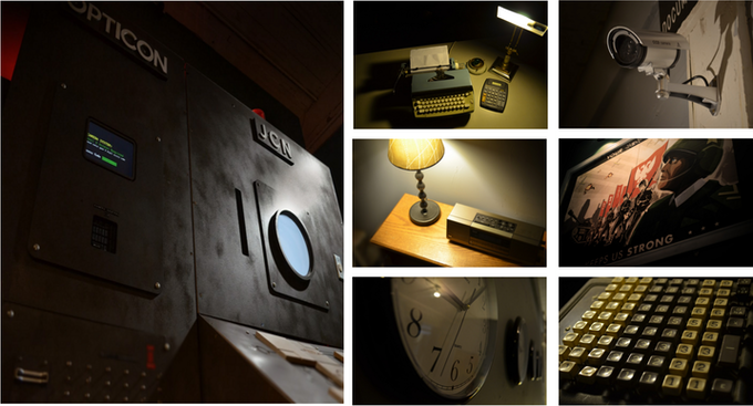 Photos from the room escape game 'Spark of Resistance' that we designed for 60minutes.to Escape