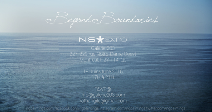 The invitation to the ''Beyond Boundaries'' exhibition. (Click on the image to see pictures from the event).