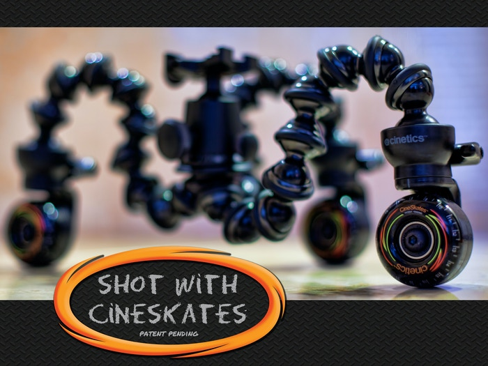 CineSkates is a portable tripod slider system that enables fluid, rolling video without the hassle of bulky camera gear.