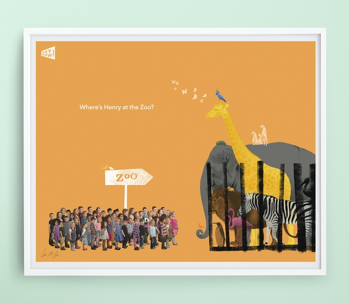 Personalised print 'At the Zoo'
