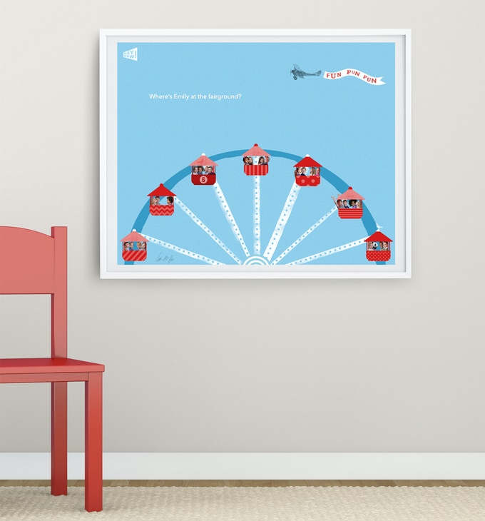 """Personalised print """"At the Fairground'"""