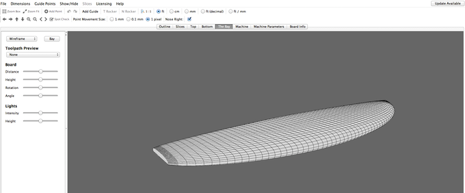 CAD program showing 3D picture of our 10.6 Nosara model
