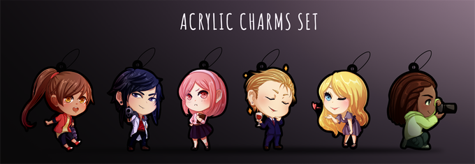 Physical Deluxe tier will receive this cute acrylic keychain set of all The Letter's main cast!