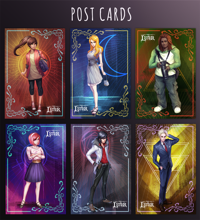 Physical Deluxe tier will also receive this post card set of all The Letter's main cast!
