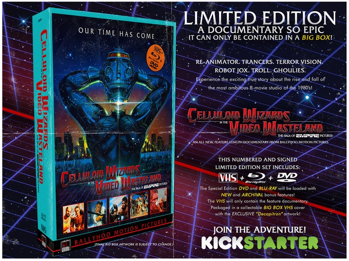 The LIMITED EDITION Blu-ray/DVD/VHS Set!