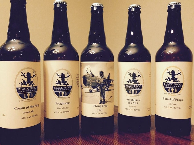 Black Frog Brewery Beer Selection