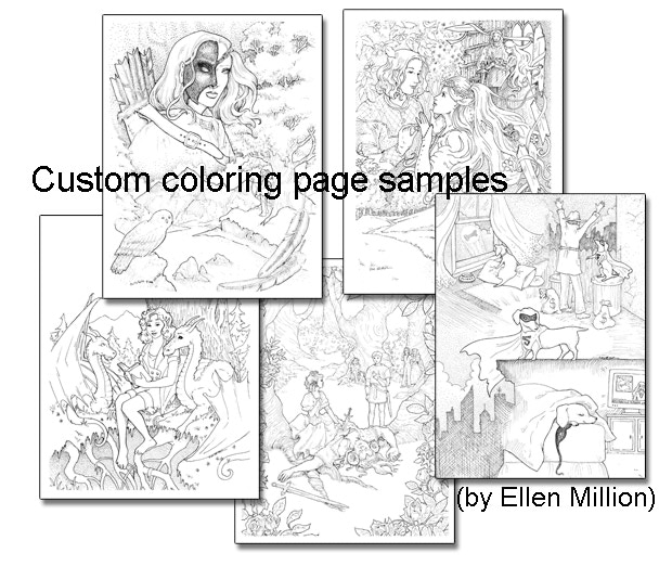 450 deluxe custom package youll receive a 1 year print subscription and a 1 year digital subscription plus a custom coloring page drawn by ellen - Custom Coloring Book