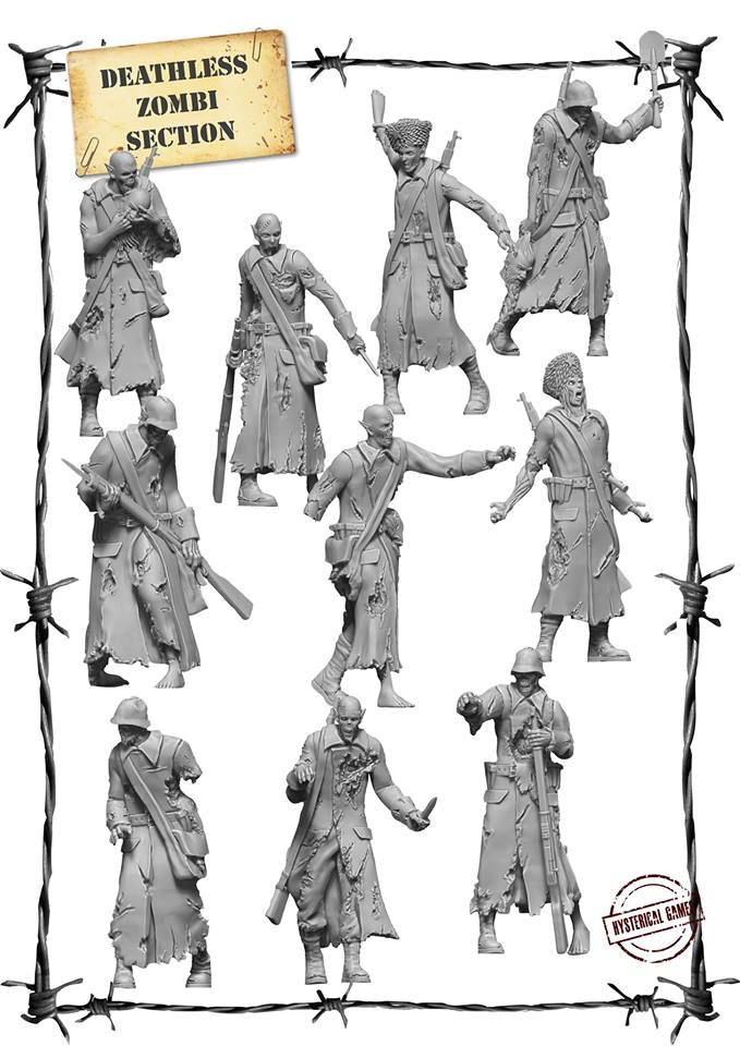 x10 Resin miniatures, supplied with x10 25mm Plastic Bases. (Also available as an add on for £22)