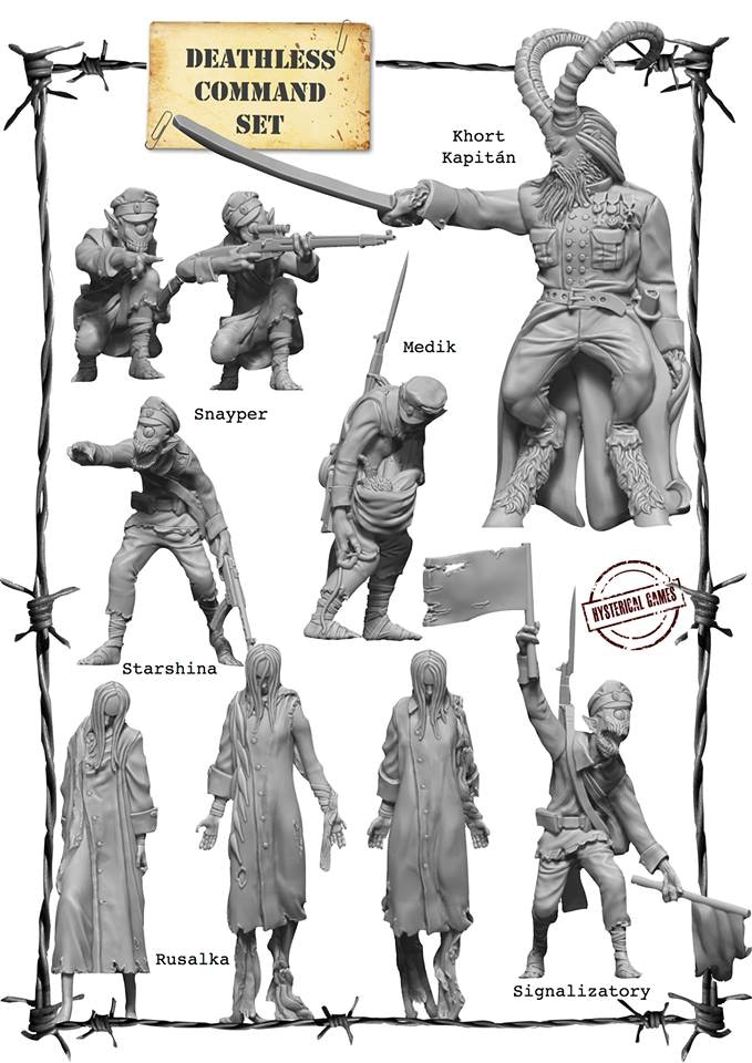 x9 Resin miniatures, supplied with x8 25mm and x1 40mm Plastic Bases. (Also available as an add on for £22)