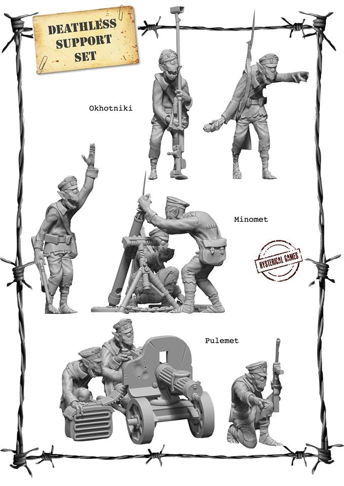 x8 Resin miniatures, supplied with x2 25mm and x2 60mm Plastic Bases. (Also available as an add on for £22)