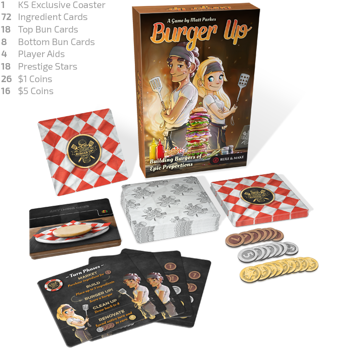 BURGER UP – Building Burgers of Epic Proportions 2~4 Players by
