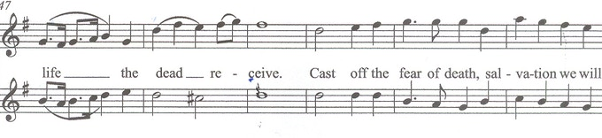 Excerpt from the score of the soundtrack of my new video, In Praise of Renewal