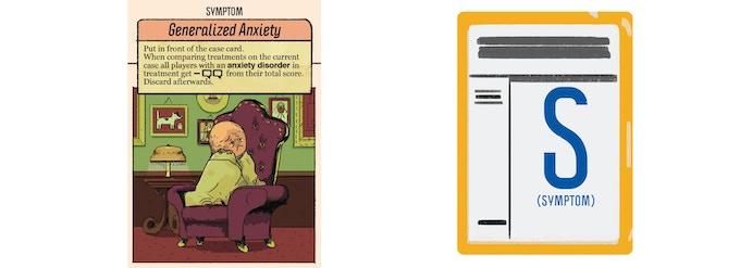 A Symptom card and Symptom card back