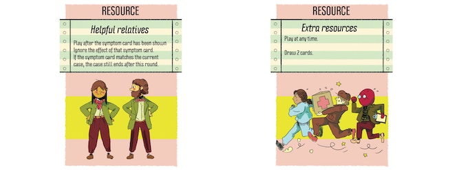 Example of Resource cards(Same back as Treatment cards)