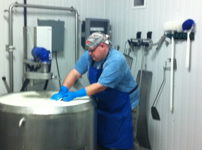 This is me during my time working for a local cheesemaker.
