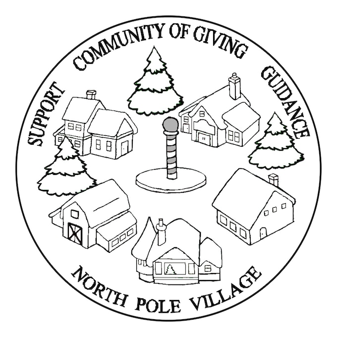 North Pole Village Coin Design
