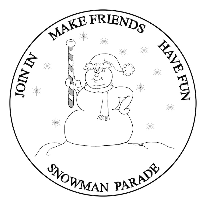 Snowman Parade Coin Design
