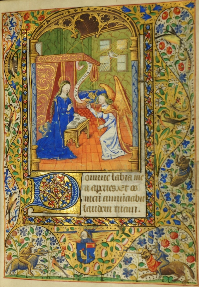 Book of Hours  MS 0065, No France, 1475-1500 Mt Angel Abbey Library