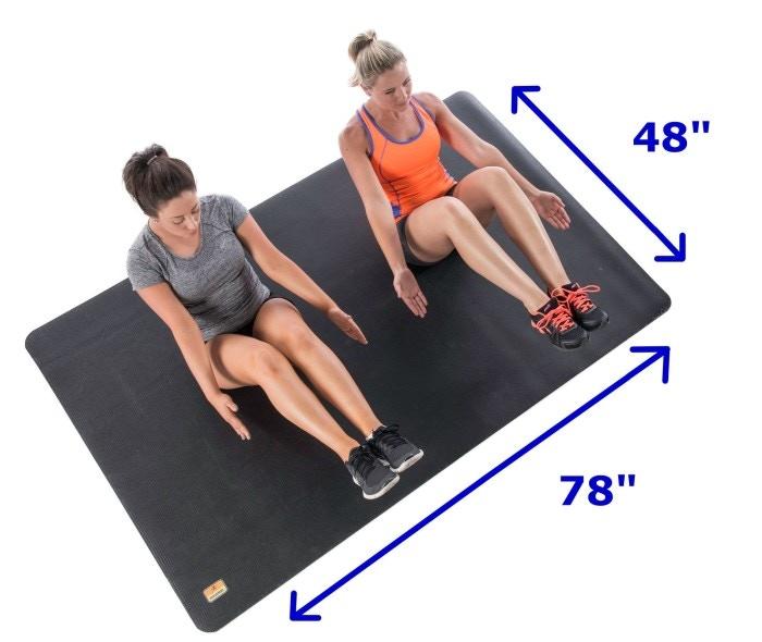 Workout Mat 5 Below: Oversize Exercise Mat & Large Yoga Mat. By Eric