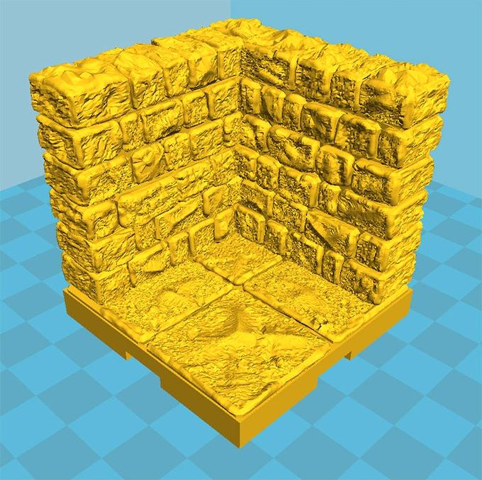 We digitally sculpt each individual brick for maximum detail.