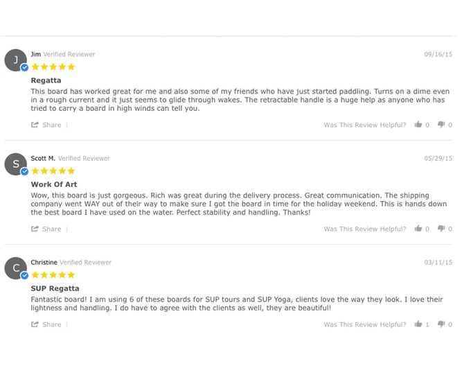 Actual Reviews from www.solacesupboards.com