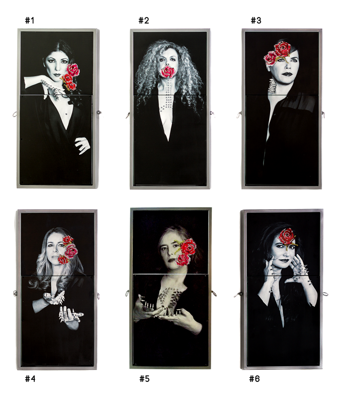 "6 WOMEN - 6 DIFFERENT ""ILLUSION"" by Mercedes Eirin"