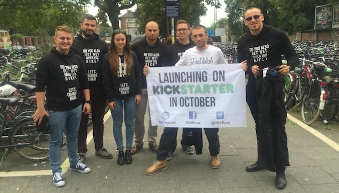 Valentin, Andrei & friends in the offline campaign for promoting the product.