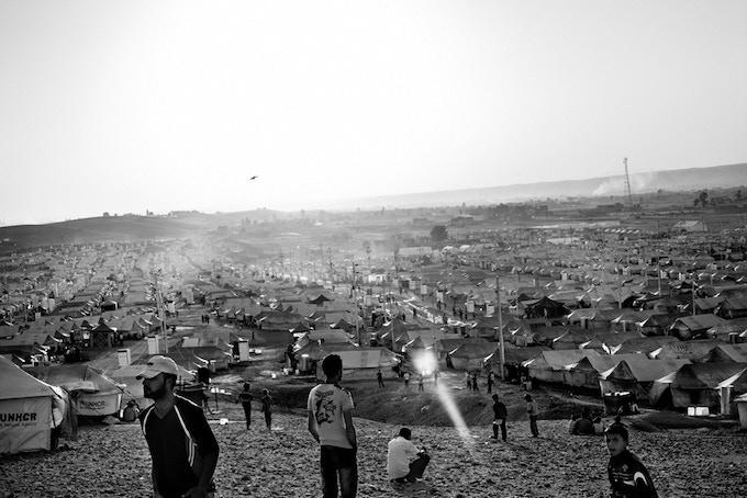 The Kawergosk refugee camp near Erbil, Iraqi Kurdistan, where more than 10.000 people are living.