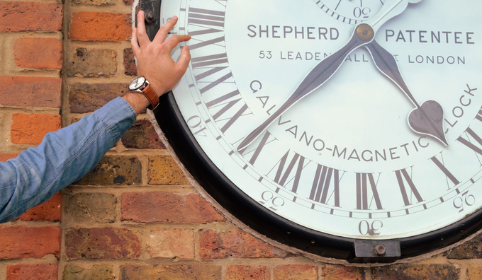 The GTG Watch near to the Shepherd Clock