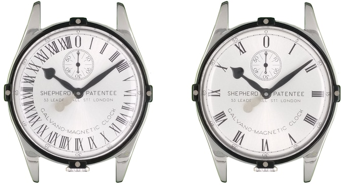 Frontal view of the GTG 24h watch cases (left) and GTG 12h watch cases