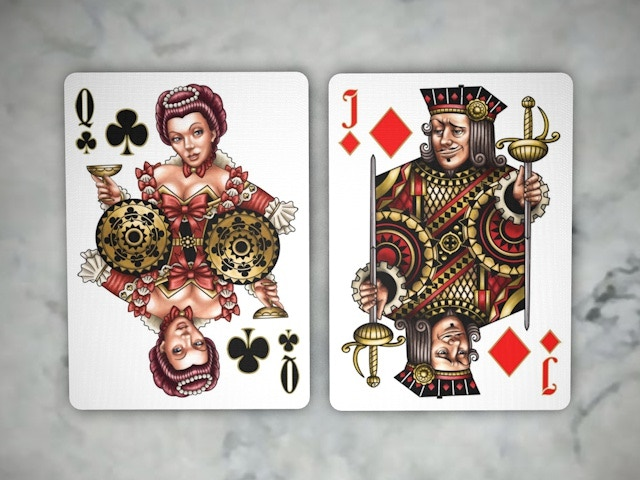 Queen of Clubs, Jack of Diamonds