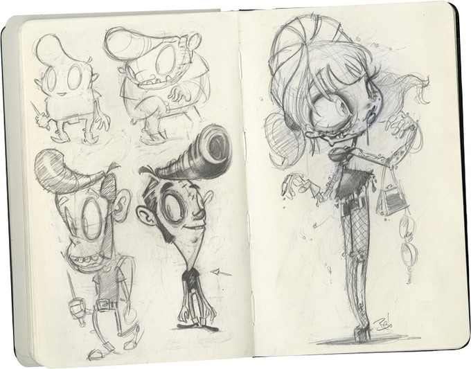 Calliope: More sketches and concepts for short film.