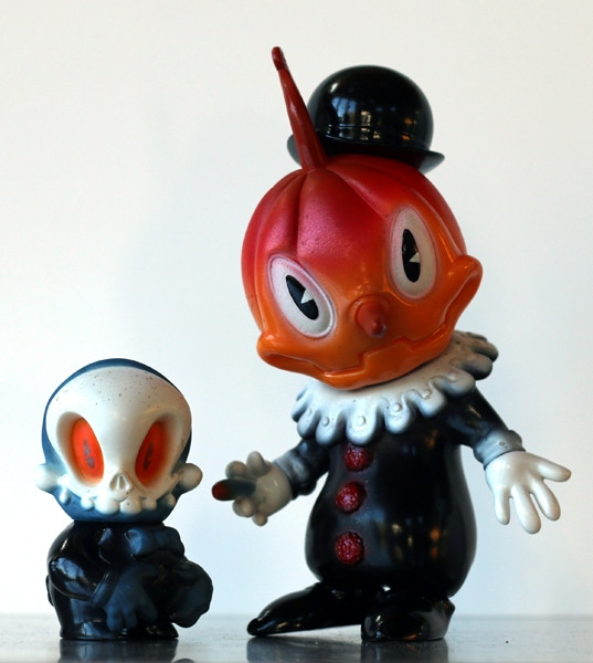 "Japanese import ""sofubi"" hand-painted by Brandt Peters. Otto chibi and Stingy Jack exclusive vinyl toy set. Note: Mock-up may not exactly reflect final product."
