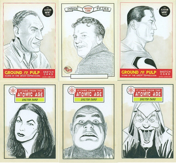 some sketch cards from previous Acheron Mint sets.