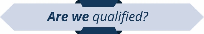 Are we qualified?