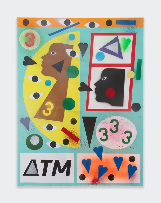 A sample of Nina Chanel Abney's work - ATM3, 2015.