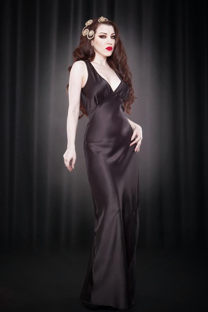 Leonie V-Neck Gown
