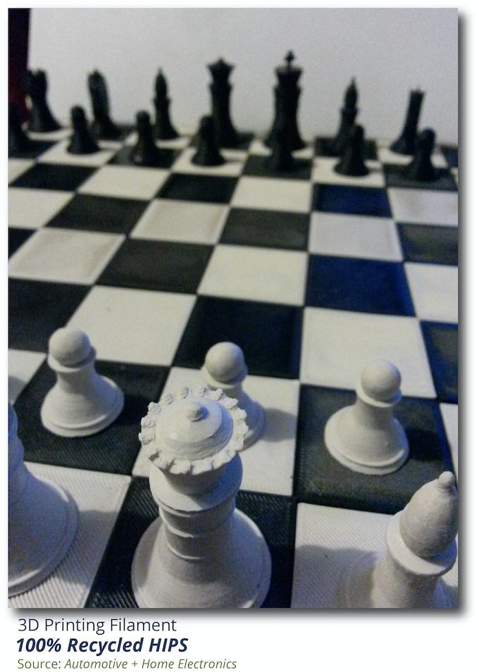 rHIPS 3D Printed Chess Board