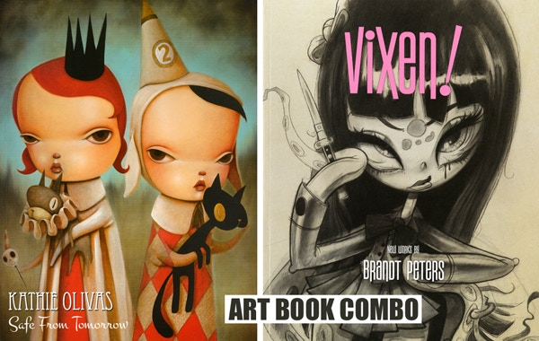ART BOOK PACK COMBO BOOKS: Safe From Tomorrow + VIXEN