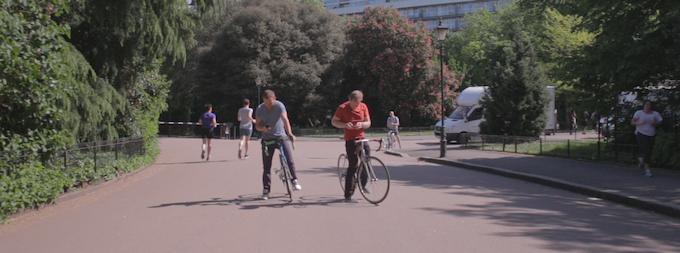 A familiar scene for urban cyclists around the world