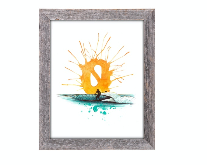 8x10 Solace Sunrise Color Print