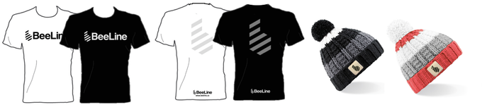 Look good and stay safe with reflective logos on the BeeLine t-shirts