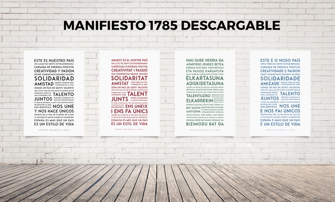 MANIFIESTO DESCARGABLE 1785 EN 4 LENGUAS