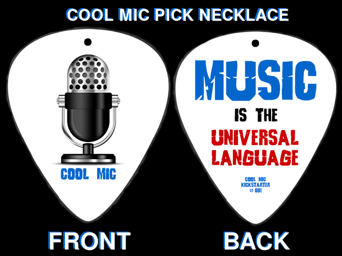 Cool Mic Reward: Pick Necklace (Front + Back)