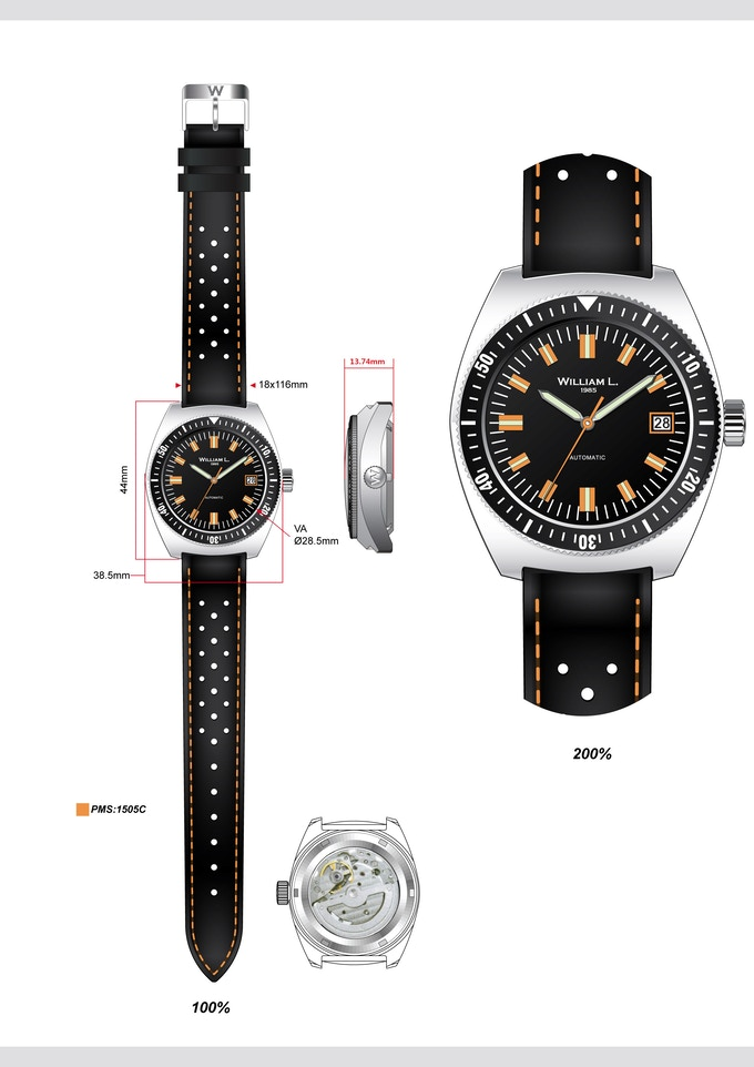 THE VINTAGE DIVER 70'S STYLE