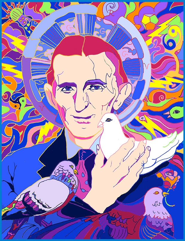 Tesla & beloved pigeons~ Free poster for all first day backers of $21+!