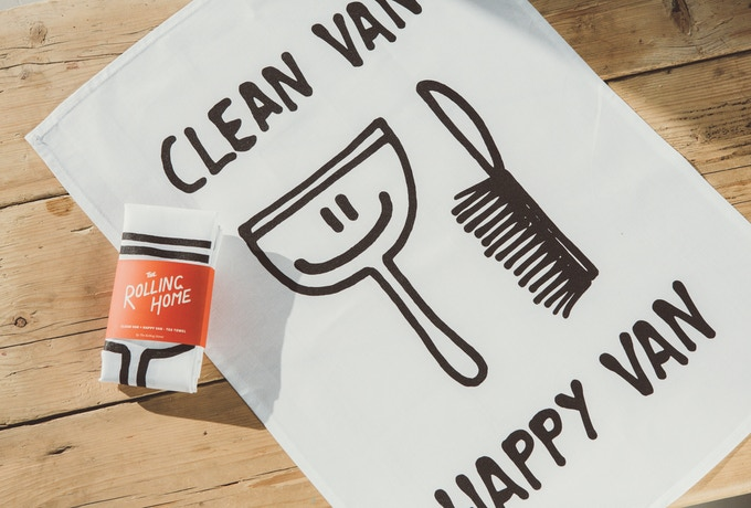 Clean Van = happy van tea towel.