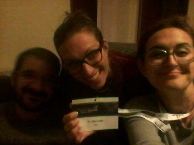 Together it's easier and...funnier! (Alessandro, Maja, Elisa delegates in Glasgow for the Annual Meeting of the European Association of Archaeologists, Sept. 2015)
